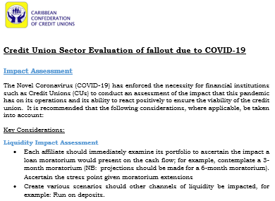 CU Sector Evaluation of Covid-19