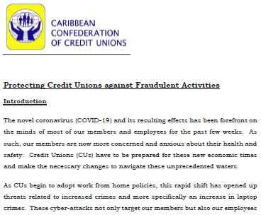 Protecting Credit Unions against Fraudulent Activities